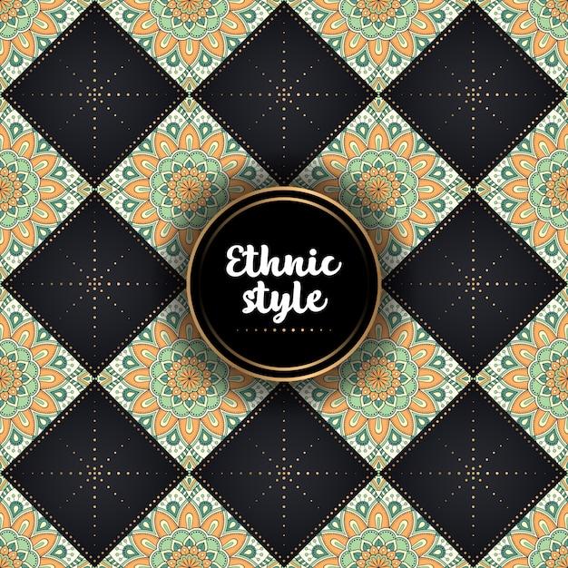 Dekoratives ethnisches luxusmuster Kostenlosen Vektoren