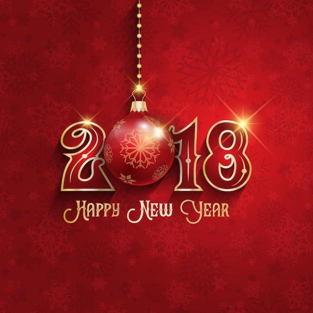 Dekoratives frohes neues Jahr-Hintergrund Kostenlose Vektoren
