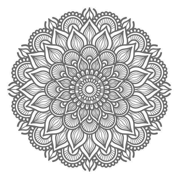 Dekoratives konzept der hand gezeichneten mandalaillustration Premium Vektoren