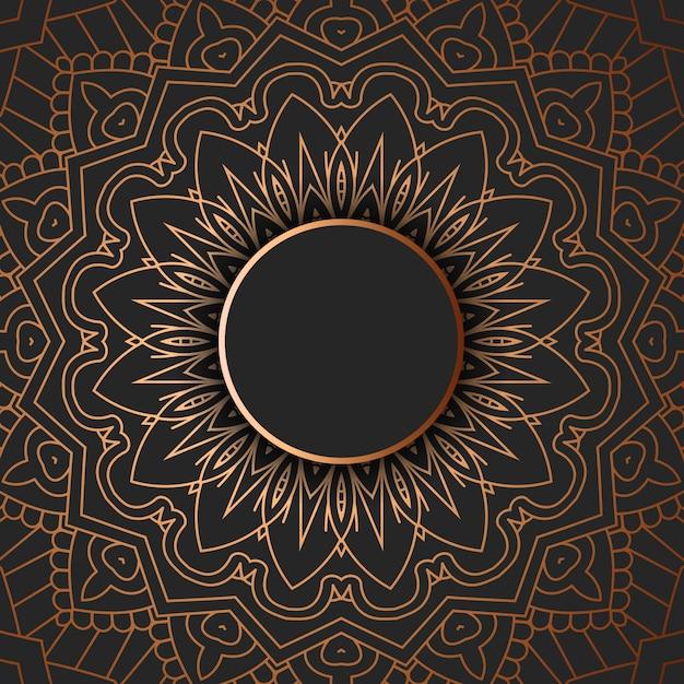 Dekoratives mandala-design Kostenlosen Vektoren