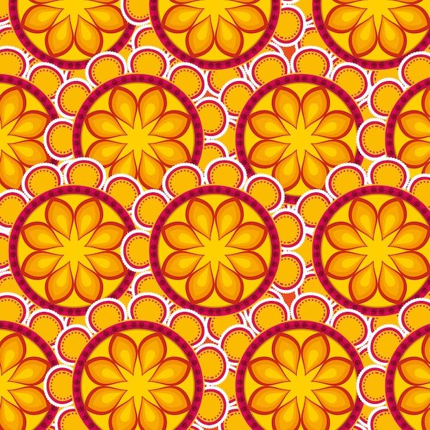 Dekoratives mandalamuster Kostenlosen Vektoren