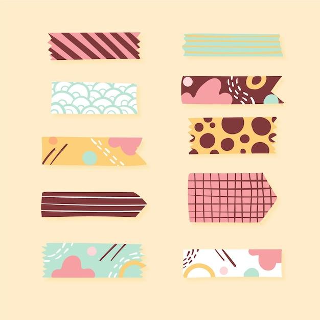 Dekoratives washi tape set Premium Vektoren