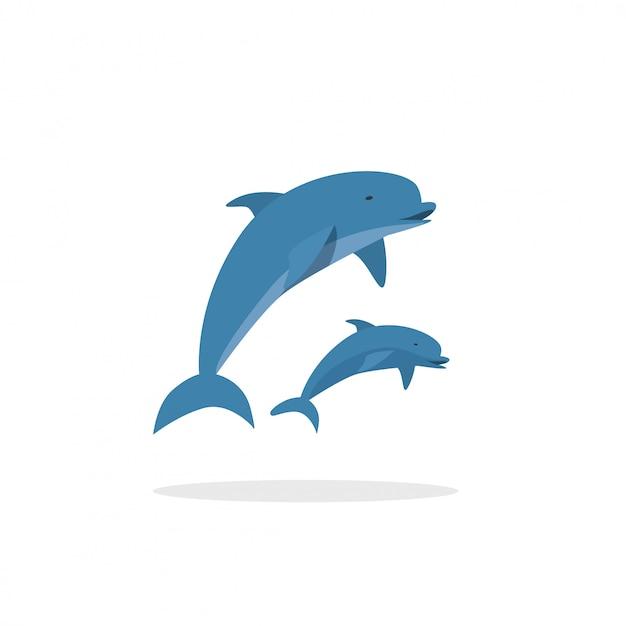 Delphine springen Premium Vektoren