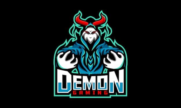 Demon gaming esports-logo Premium Vektoren