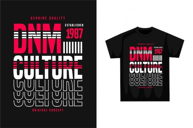 Denim culture - grafisches t-shirt Premium Vektoren