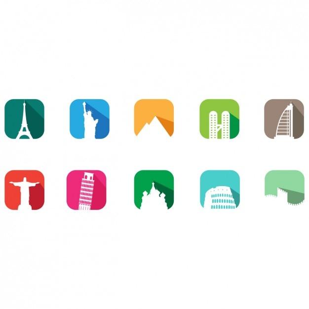 Denkmäler Logo-Vorlagen | Download der kostenlosen Vektor