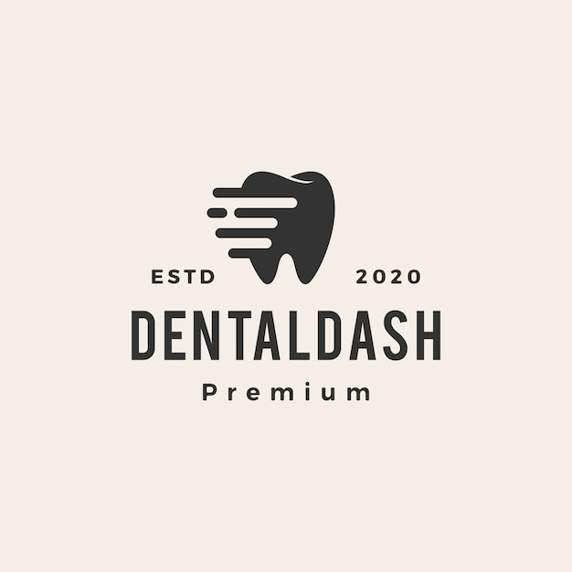 Dental dash vintage logo symbol illustration Premium Vektoren