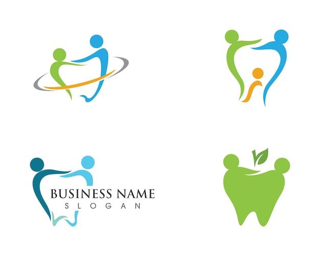 Dental logo vorlage vektor Premium Vektoren