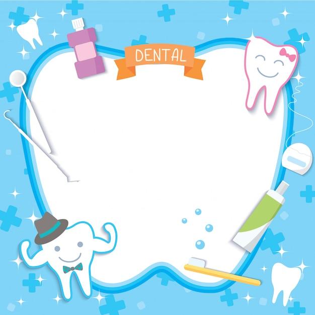 Dentalschablone Premium Vektoren