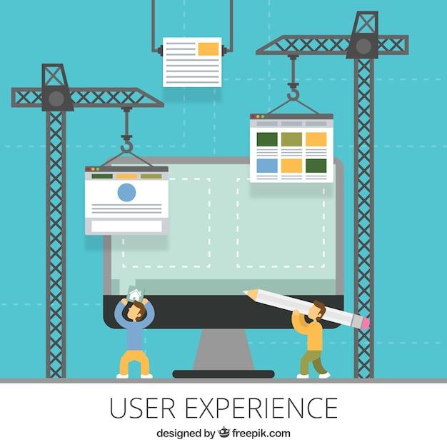 Der aufbau einer website Kostenlosen Vektoren
