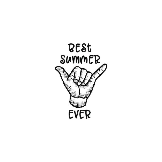 Der beste sommer aller zeiten Premium Vektoren