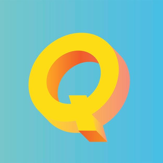 Der buchstabe q-vektor Kostenlosen Vektoren