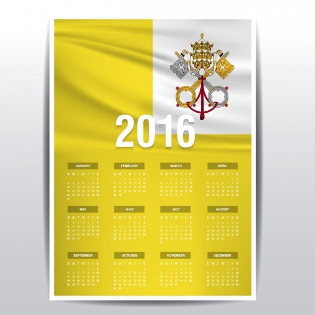 Der vatikan-kalender 2016 Kostenlosen Vektoren