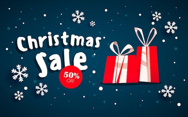 Der weihnachtsverkauf. Premium Vektoren
