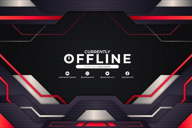 Derzeit offline background red style Premium Vektoren