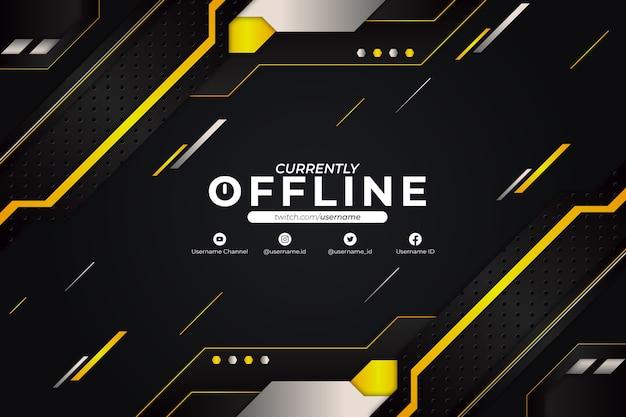 Derzeit offline hintergrund gelb stil Premium Vektoren