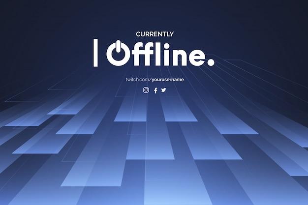 Derzeit offline-hintergrund mit abstrakten 3d-formen design-vorlage Kostenlosen Vektoren