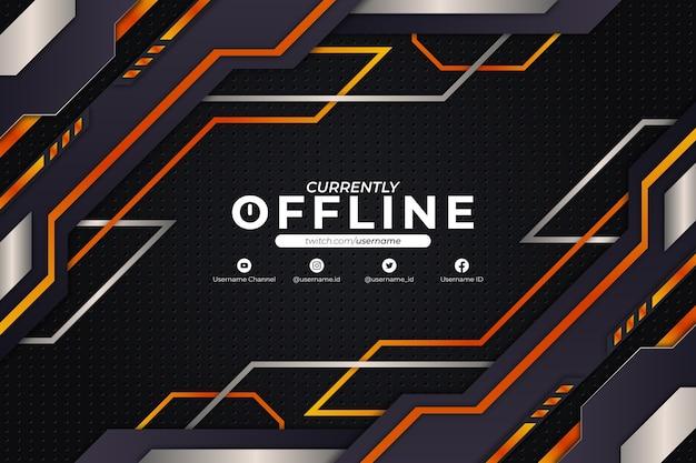 Derzeit offline-hintergrund orange style Premium Vektoren