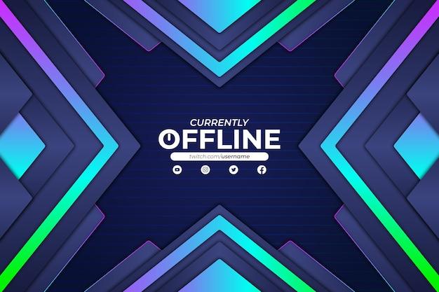 Derzeit offline-hintergrund rgb-stil Premium Vektoren
