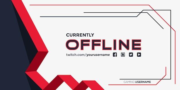 Derzeit offline zucken banner Premium Vektoren