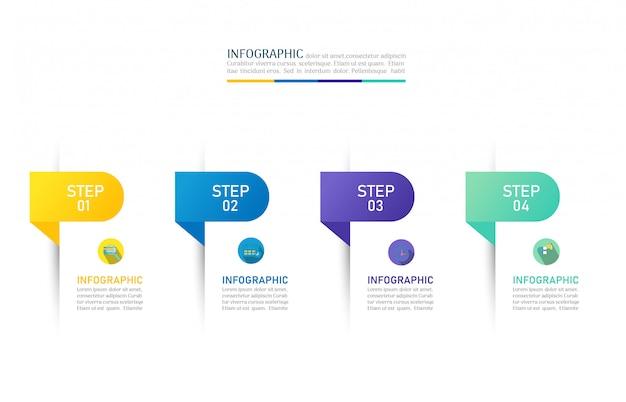 Design business vorlage optionen infographik diagrammelement. Premium Vektoren