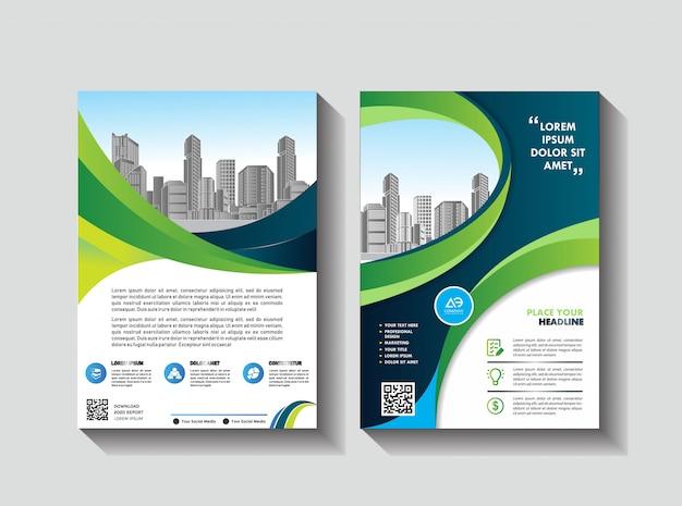 Design cover buch broschüre layout flyer plakat hintergrund geschäftsbericht Premium Vektoren