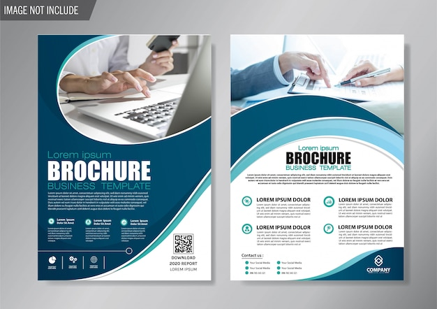 Design cover flyer und broschüre business template für den geschäftsbericht Premium Vektoren