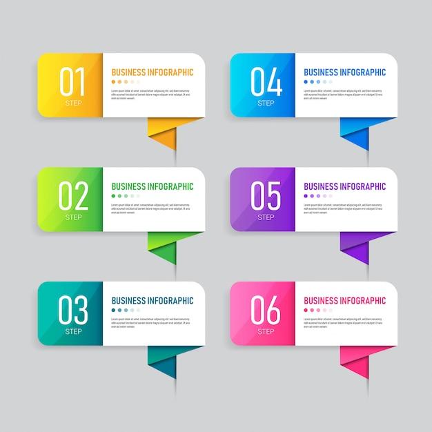Design der infografik-geschäftsvorlage. Premium Vektoren