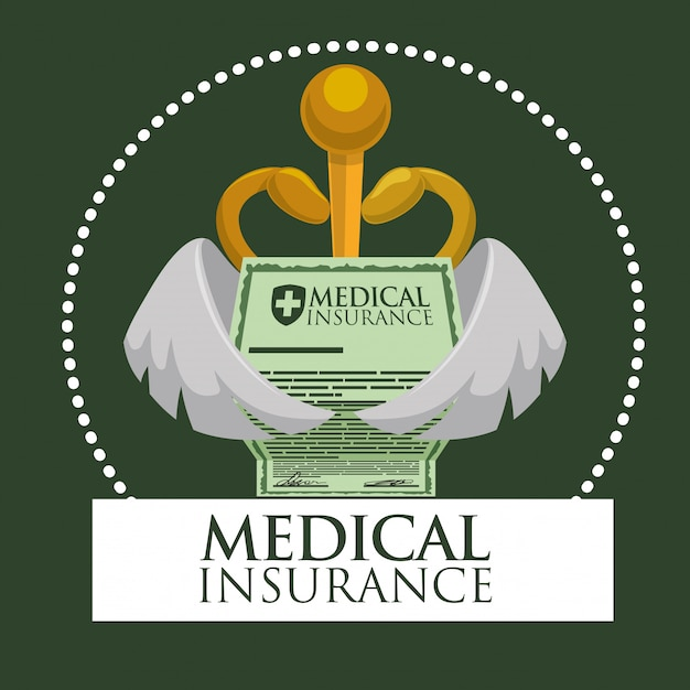 Design der medizinischen versorgung Premium Vektoren