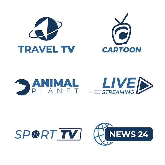 Design der news-logo-sammlung Kostenlosen Vektoren