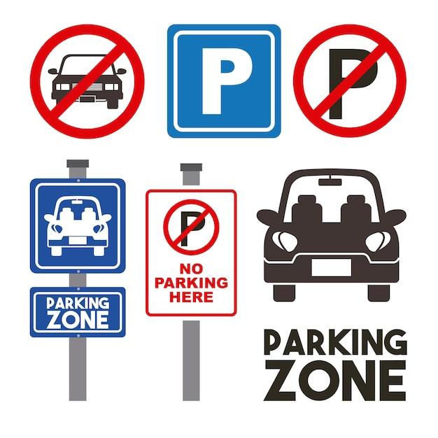 Design der parkzone Premium Vektoren