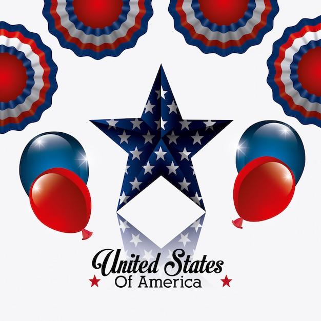 Design der vereinigten staaten von amerika. Kostenlosen Vektoren