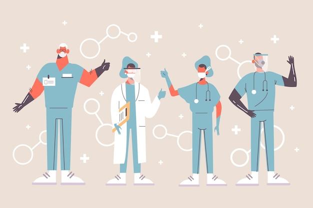 Design des medizinischen fachpersonals Kostenlosen Vektoren
