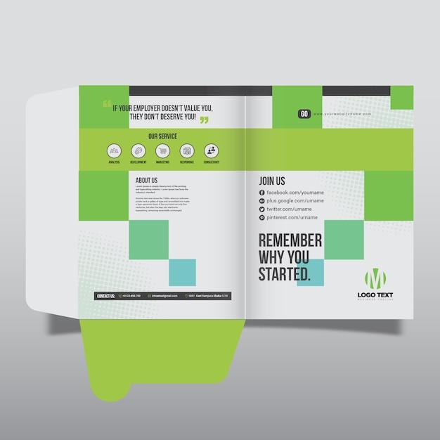Design des präsentationsordners Premium Vektoren