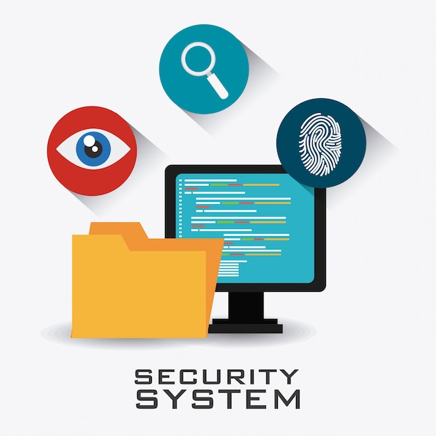 Design des sicherheitssystems. Premium Vektoren