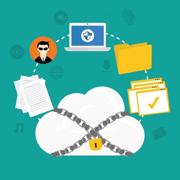 Design des sicherheitssystems Premium Vektoren