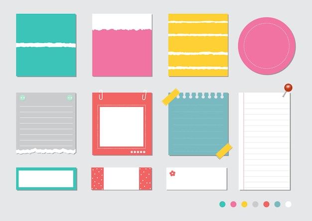 Design-elemente für notebook, tagebuch, aufkleber und andere vorlage. Premium Vektoren