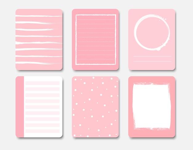 Design-elemente für notebook und tagebuch Premium Vektoren
