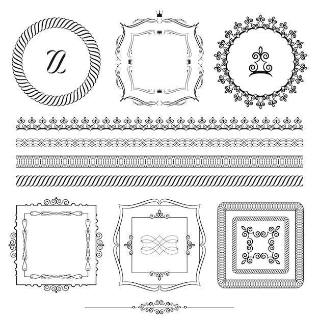 Design-elemente gesetzt Premium Vektoren