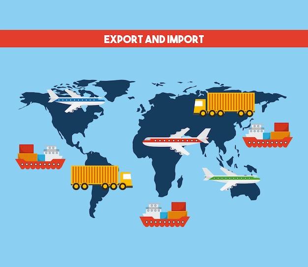Design exportieren und importieren Premium Vektoren