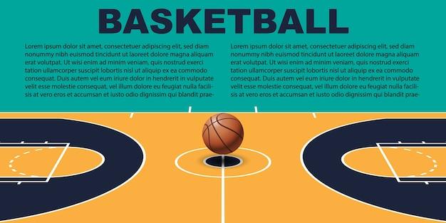 Design für basketball Premium Vektoren