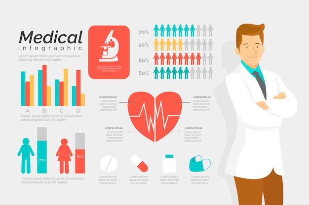 Design für medizinische infografik Kostenlosen Vektoren