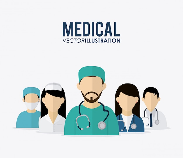 Design für medizinische versorgung Premium Vektoren