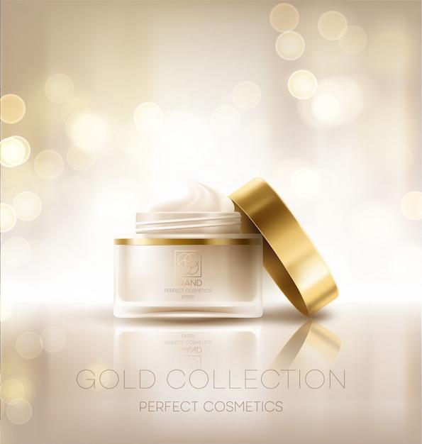 Design kosmetik produktwerbung. Premium Vektoren