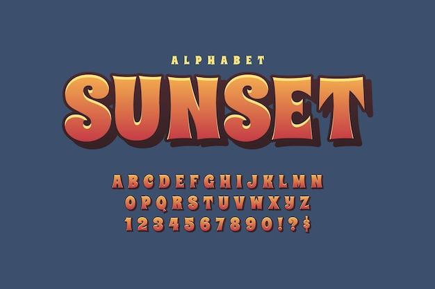 Design mit 3d retro alphabet Premium Vektoren