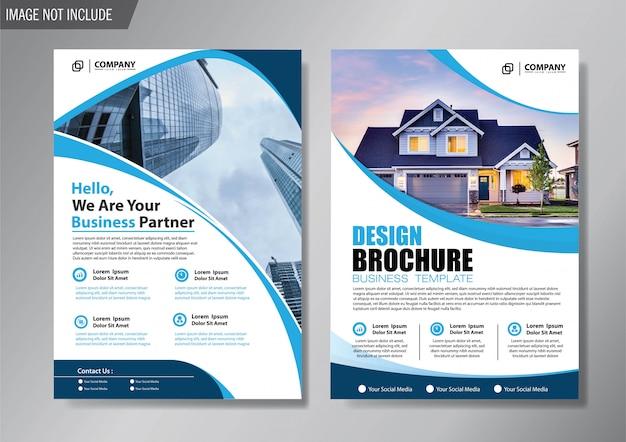 Design-plan cover flyer und broschüre business-vorlage für hintergrund jahresbericht Premium Vektoren