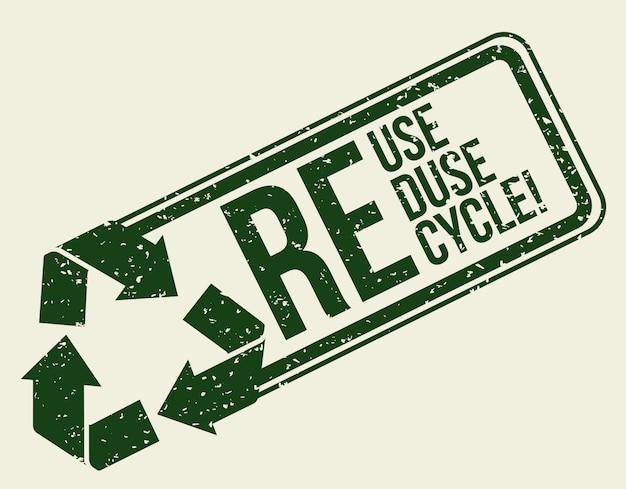 Design recyceln. Premium Vektoren