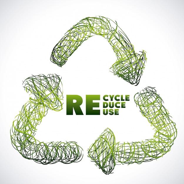 Design recyceln Premium Vektoren