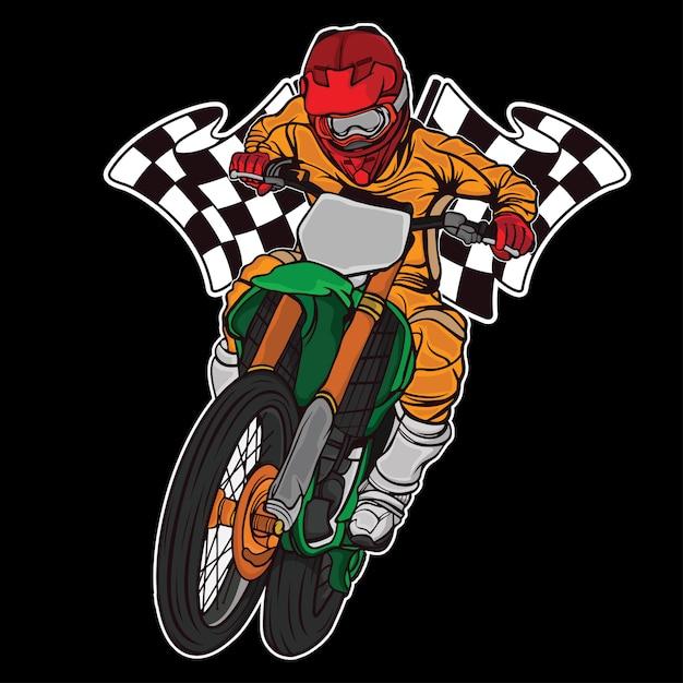 Design supermoto racing race Premium Vektoren
