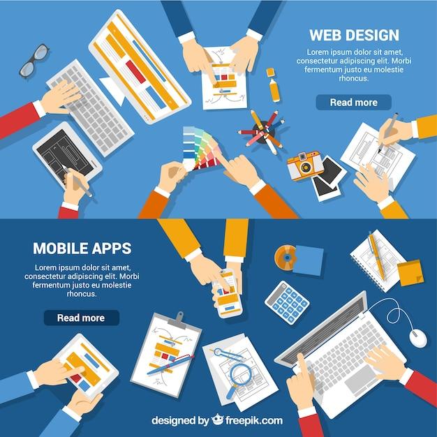 Design-team arbeits Kostenlosen Vektoren